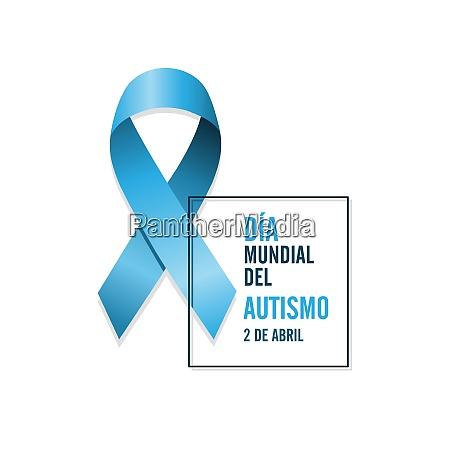 blaue autismus band mit spanischen text