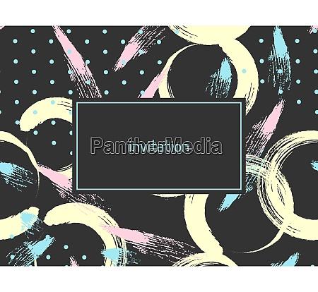 hand drawn abstract grunge invitation card