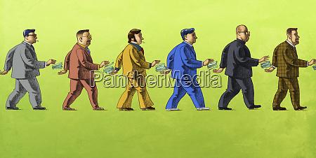 geldwechsel zwischen korrupten geschaeftsleuten