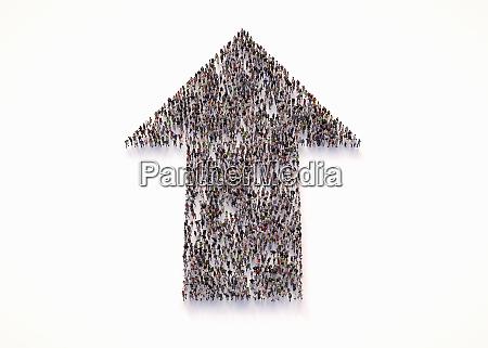 overhead ansicht der menschenmenge von menschen