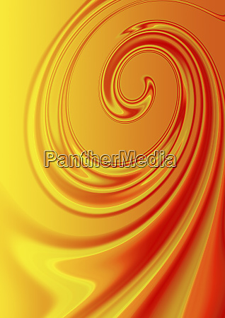abstrakte orange fluessigkeit spiralmuster