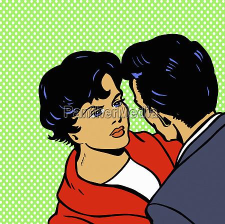 nahaufnahme von attraktiven paar mit ernsthaften