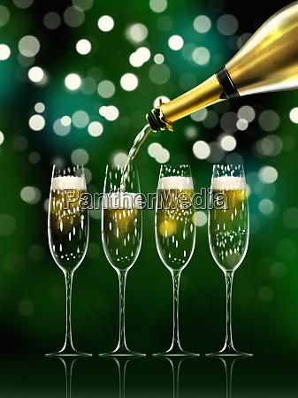 gold champagner flasche fuellung sekt floeten