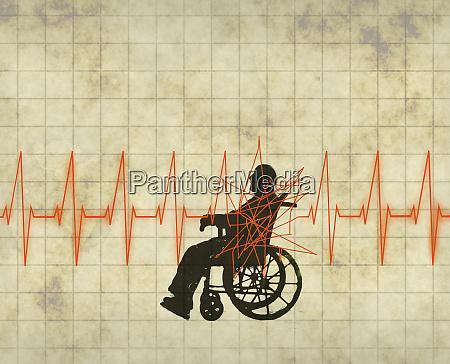 elderly man with heart problem