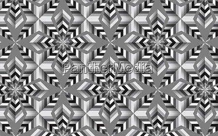 abstract black and white mosaic tile
