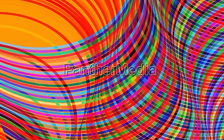complex crisscrossing multi coloured striped abstract