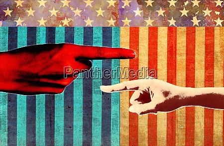 konflikt in der politik der vereinigten