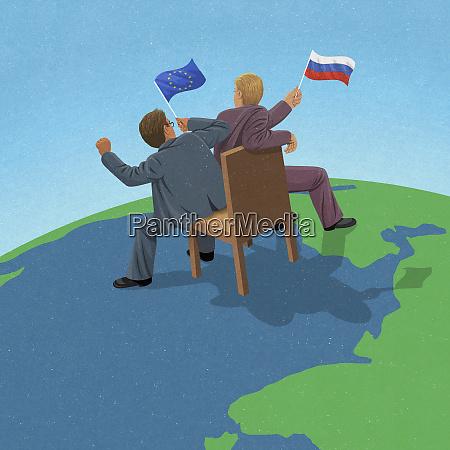 europaeische union und russische politiker kaempfen