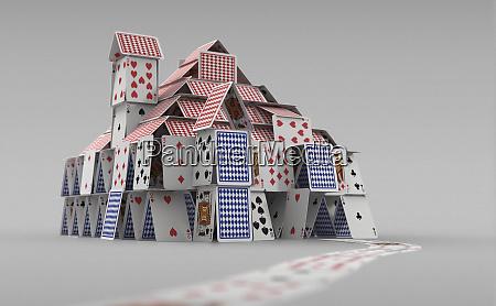 freistehendes kartenhaus