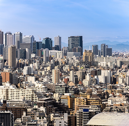 aerial view tokyo skyscrapers shinjuku