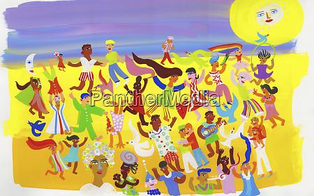 menschen, die, spaß, am, tanzen, am, strand - 26800568