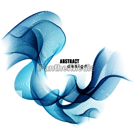 blue abstract color wave vector smoke