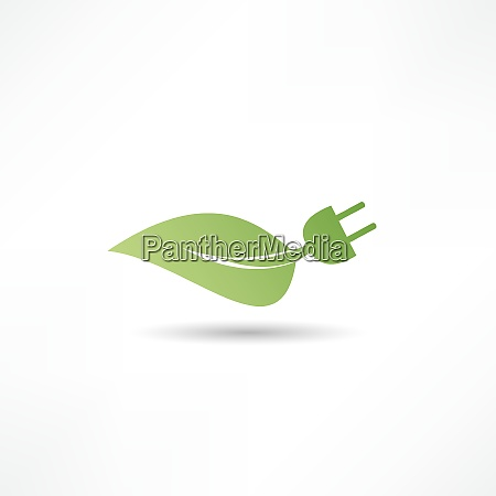 gruenes energiekonzept zeichen