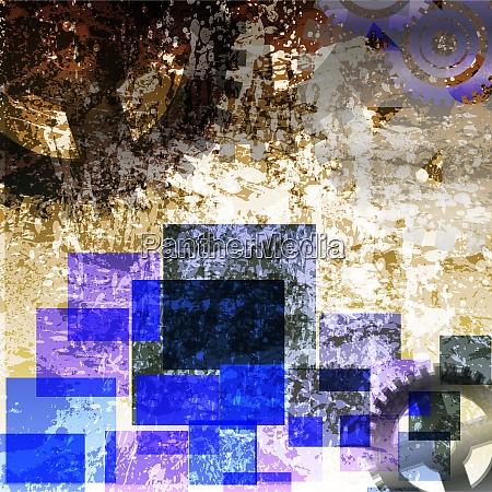 Vektordatei, Abstract, Bunt, Zahnrad, Illustration, Grafik