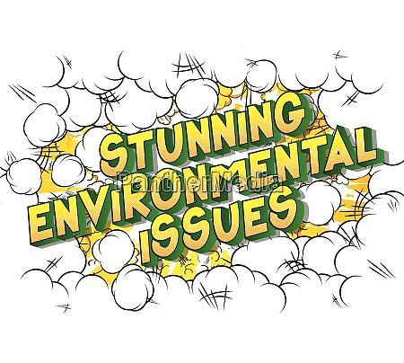 atemberaubende umweltfragen comic buch stil
