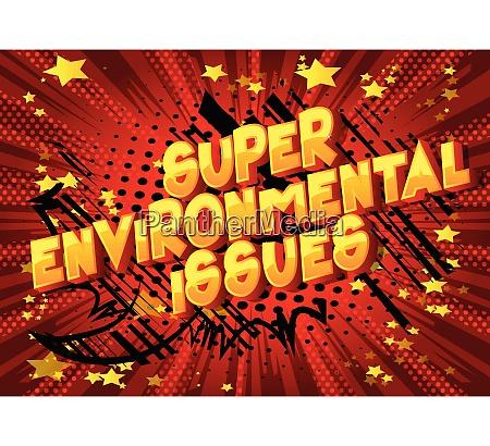 super umweltfragen comic buch stil
