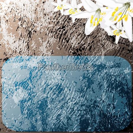 retro stilisierte hintergrund mit weissen lilie