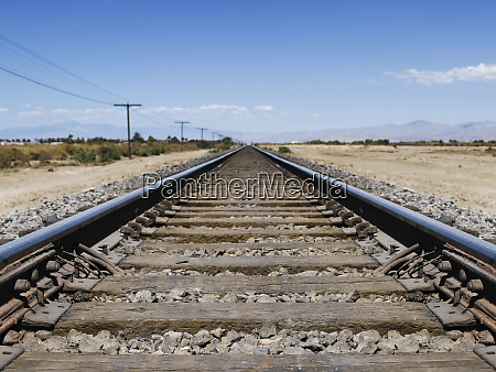 railroad tracks in the countryside