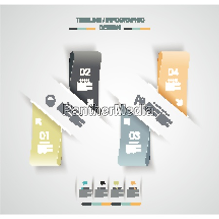 minimal timeline infographic design can be