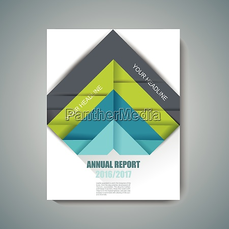 vector design of magazine cover with