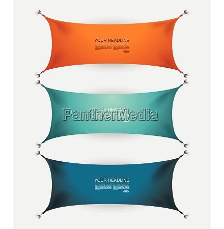 bunte papier schnitte textil banner mit
