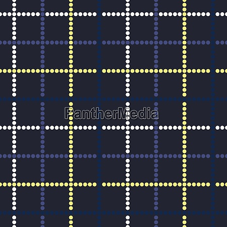 seamless tartan pattern from round shapes