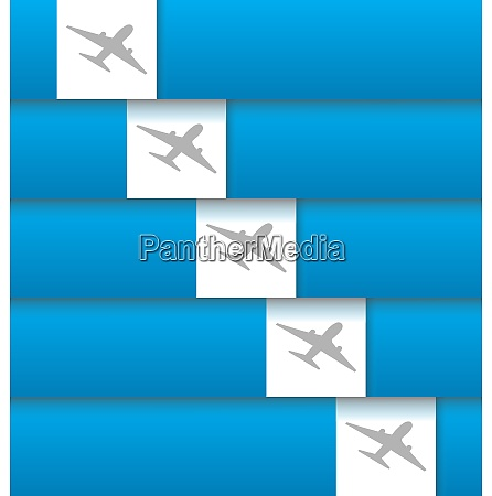 illustration set of labels with airplanes