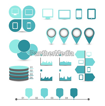 illustration infographic design elements ideal to