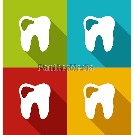 illustration icons of human tooth with