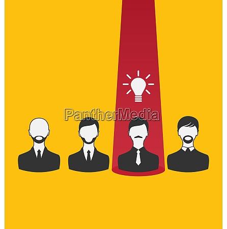 illustration entstehung neue kreative idee ikone