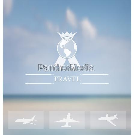 illustration design of website for aviation