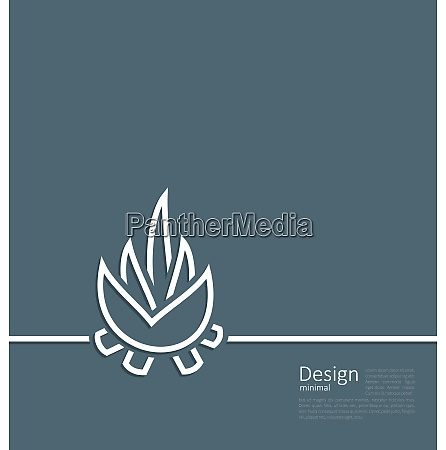 illustration logo of bonfire symbol of
