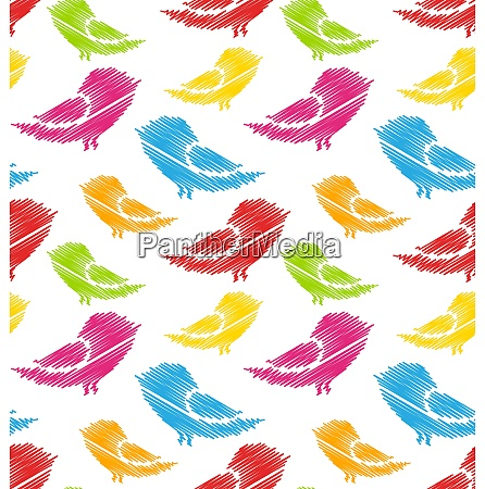 illustration seamless pattern with abstract colorful