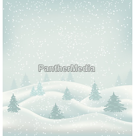 illustration weihnachten winterlandschaft schneefall und schneebedeckte