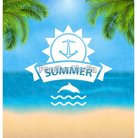 summer template of holidays design and