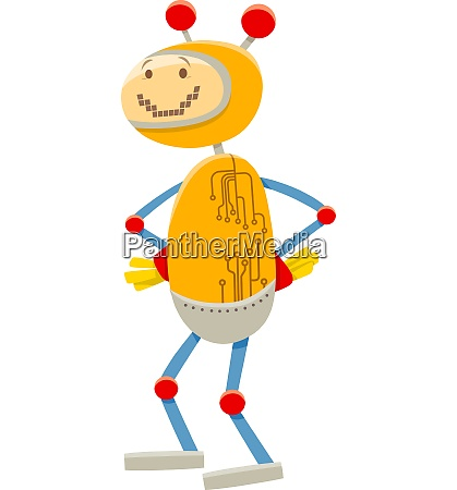 robot or droid cartoon comic character