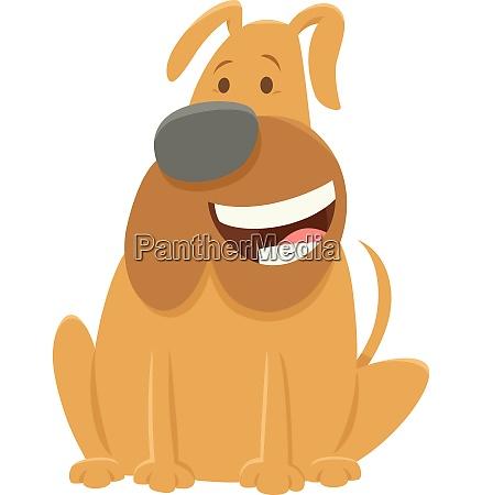 funny bull dog cartoon character