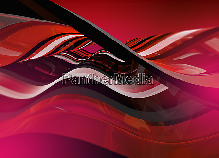 complex abstract red wave pattern