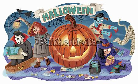 spooky halloween charaktere