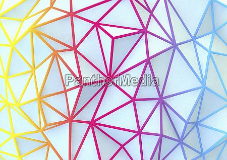 mehrfarbige abstrakte netzwerkmuster