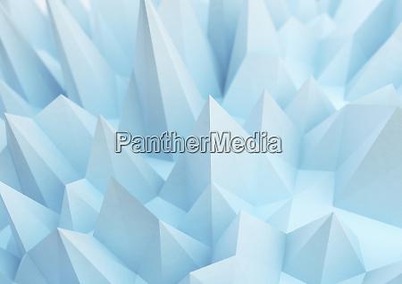 abstrakte blaue stachelflaeche