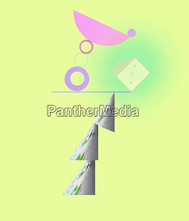abstrakte ausgewogene struktur umstuerzen