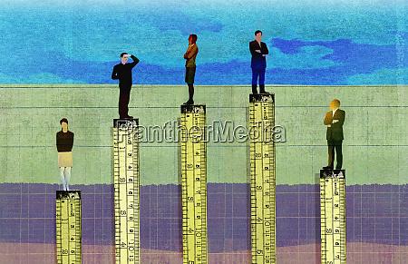 lineale messen die hoehe in der