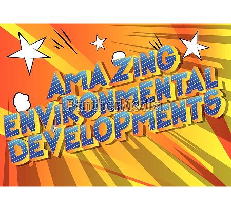 erstaunliche umweltentwicklungen comic buch stil