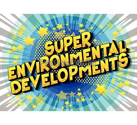 super environmental developments comic buchstil satz