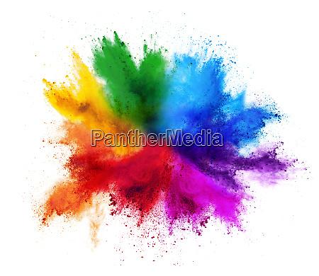 bunte regenbogen holi farbe farbe pulver