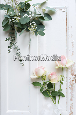 roses decoration in vintage style