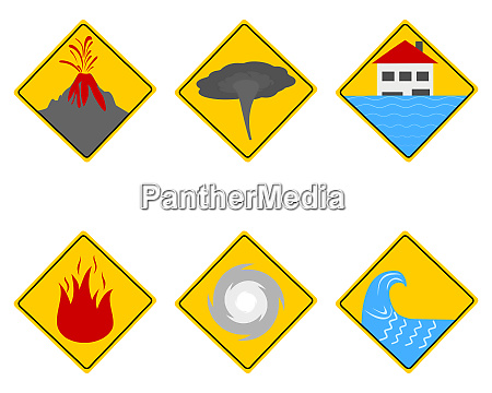 verkehrsschilder naturkatastrophen