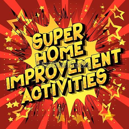 super home improvement activities comic