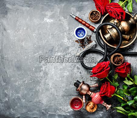 flower with hookah